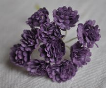 DARK LILAC GYPSOPHILA / FORGET ME NOT Mulberry Paper Flowers